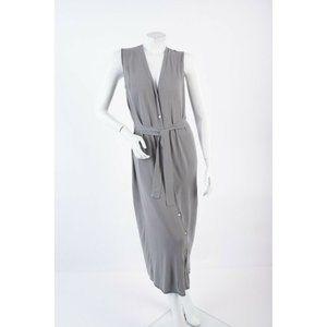 Zara Womens Knit Waistcoat Dress S Gray Sleeveless